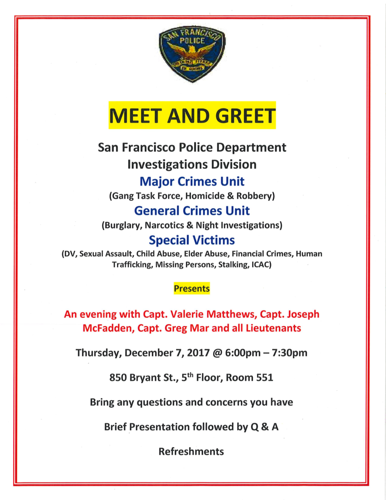 Investigations Bureau Meet & Greet