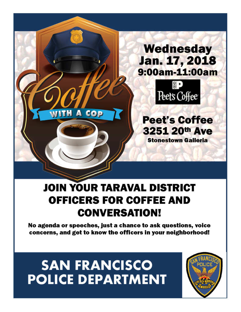 Coffee with a cop flier