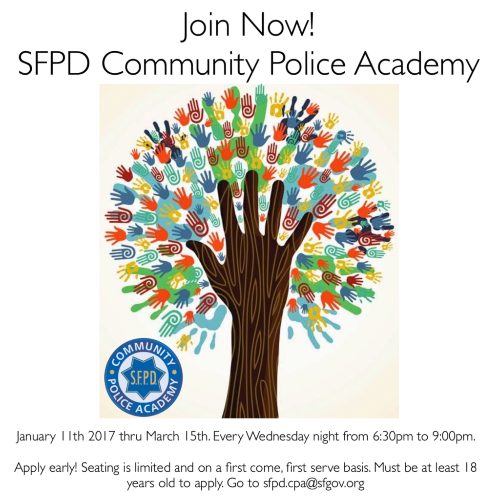 Join the San Francisco Community Police Academy