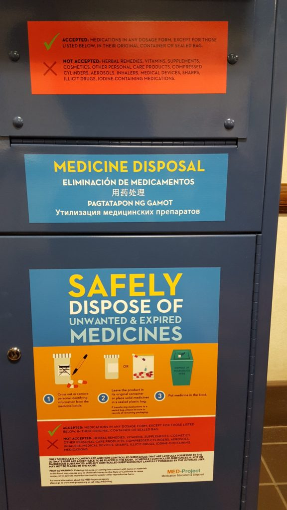 Photo of unwanted medication bin