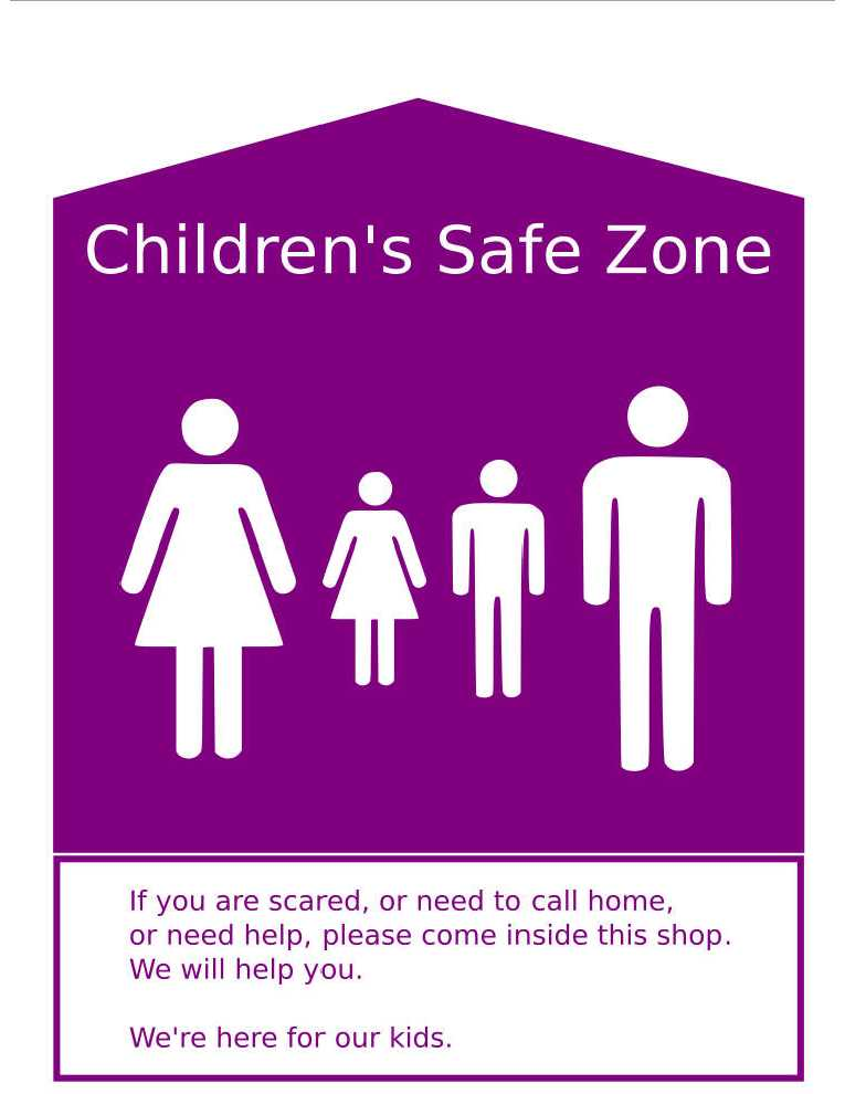 Children's Safe Zone poster
