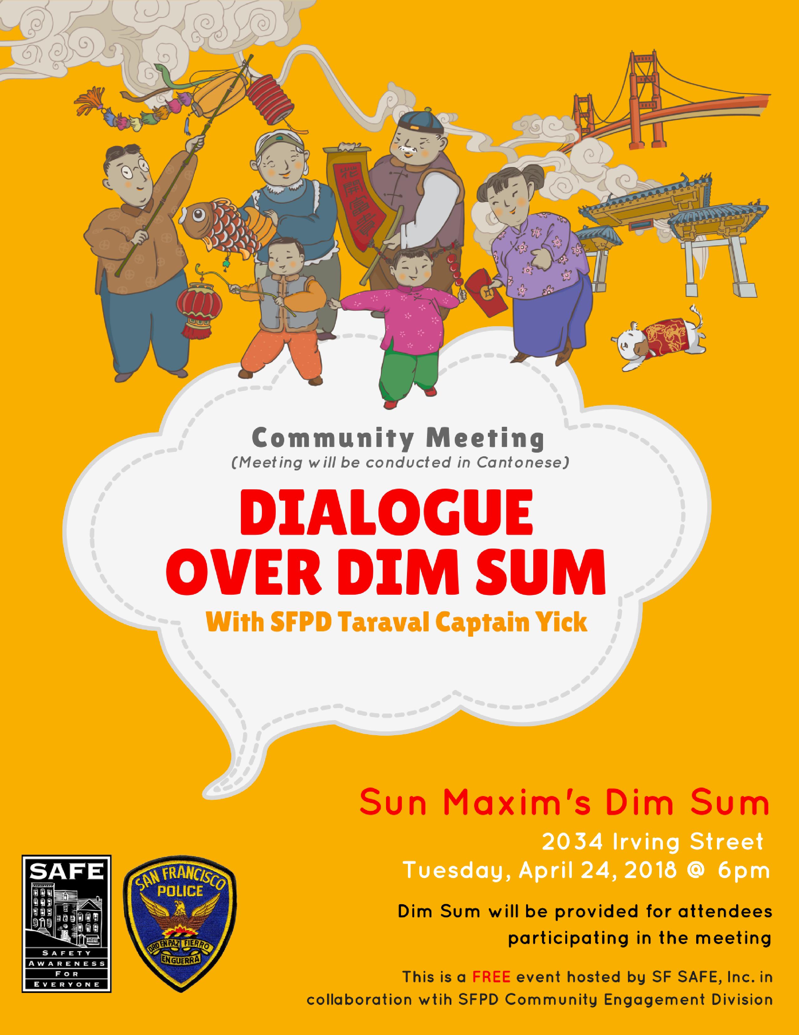 Dialogue Over Dim Sum flyer